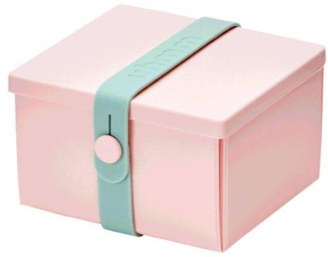No.02 składany lunchbox z opaską Uhmm - pink / mint - pink/mint