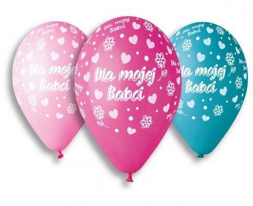 Balony Premium na Dzień Babci, Dla Mojej Babci, 5 szt.