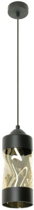 Lampex Debora 1 785/1 lampa wisząca klosz szklany metalowa oprawa czarna E27 1x60W 13cm