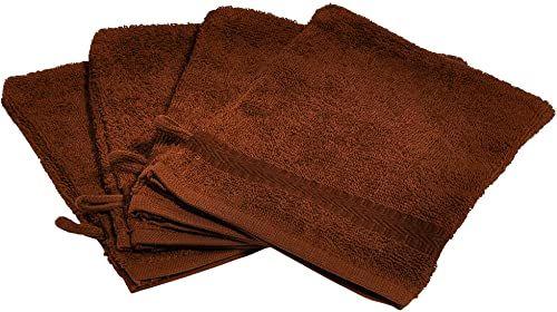 Buscher Rękawica do mycia, bawełna, brązowa