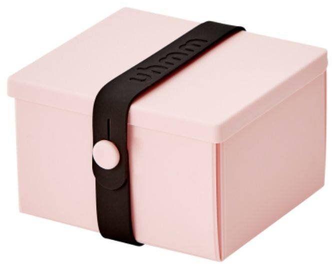 No.02 lunchbox dziecięcy z opaską Uhmm - pink / black - pink/black