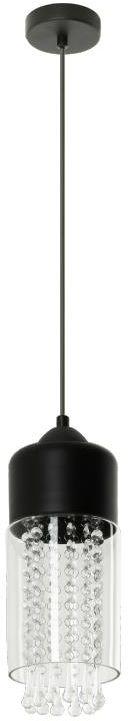 Lampex Kryspin 1 786/1 lampa wisząca metalowa nowoczesna szklany klosz kryształki E27 1x60W 13cm