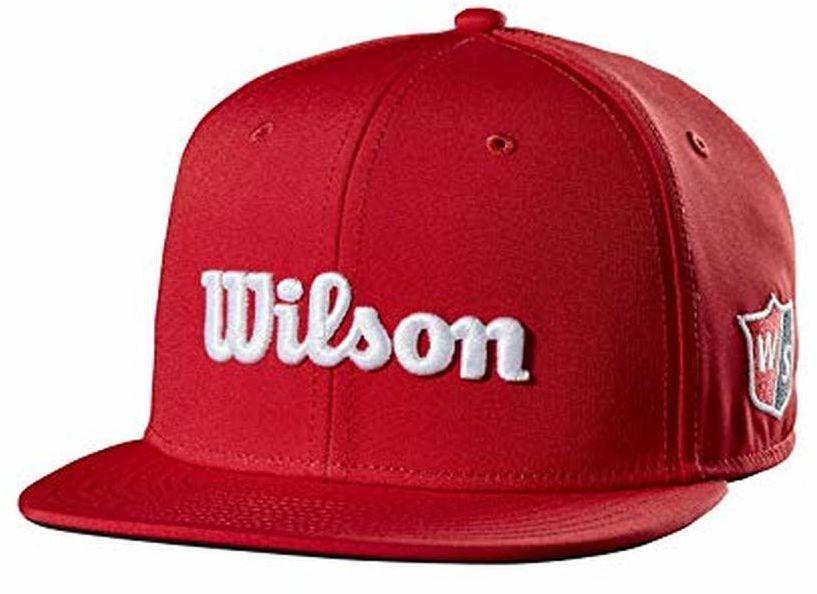 Wilson uniseks - czapka golfowa z płaskim rondem dla dorosłych, czerwona, jeden rozmiar
