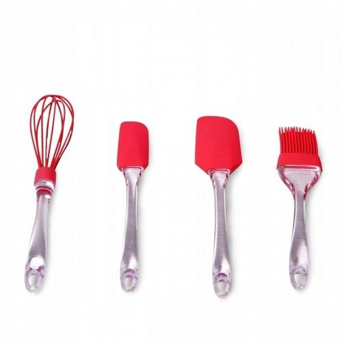 Zestaw przyborów kuchennych silikonowych 4el.
