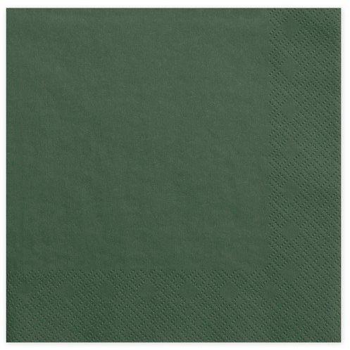 Serwetki c. zielone 33cm 20 szt. SP33-1-012B