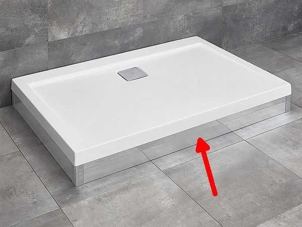 RADAWAY panel chrom 110 cm do brodzika Argos D z obudową 001-510104001