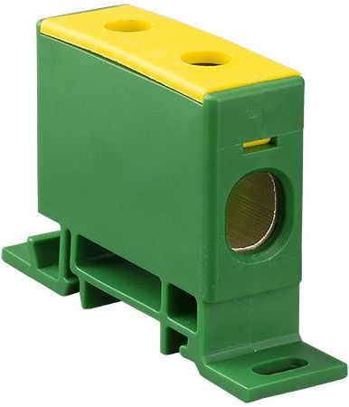Złączka szynowa przelotowa 2-przewodowa 16-70mm2 żółto-zielona ZP50 Cu / z 48.59