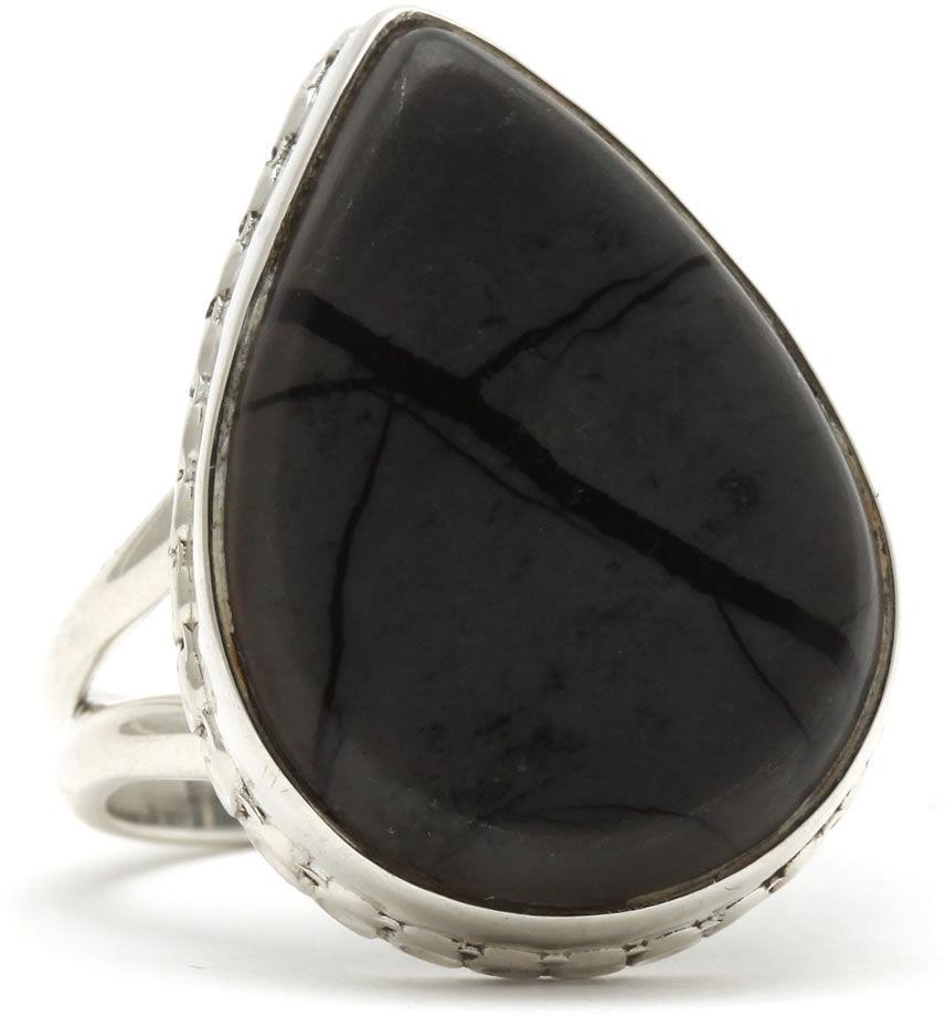 Kuźnia Srebra - Pierścionek srebrny, rozm. 17, Jaspis, 7g, model