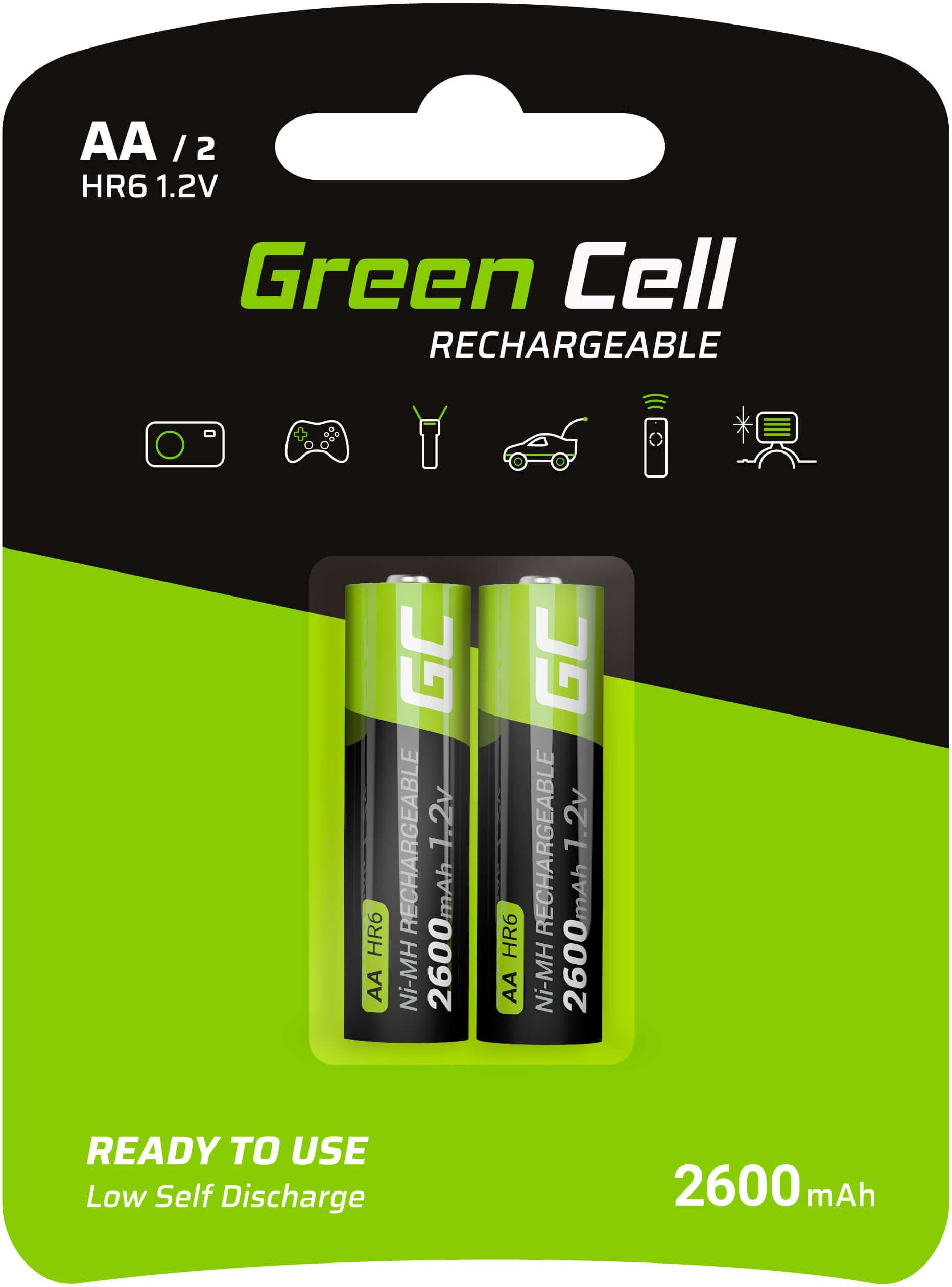 Baterie Akumulatorki Paluszki 2x AA HR6 2600mAh Green Cell