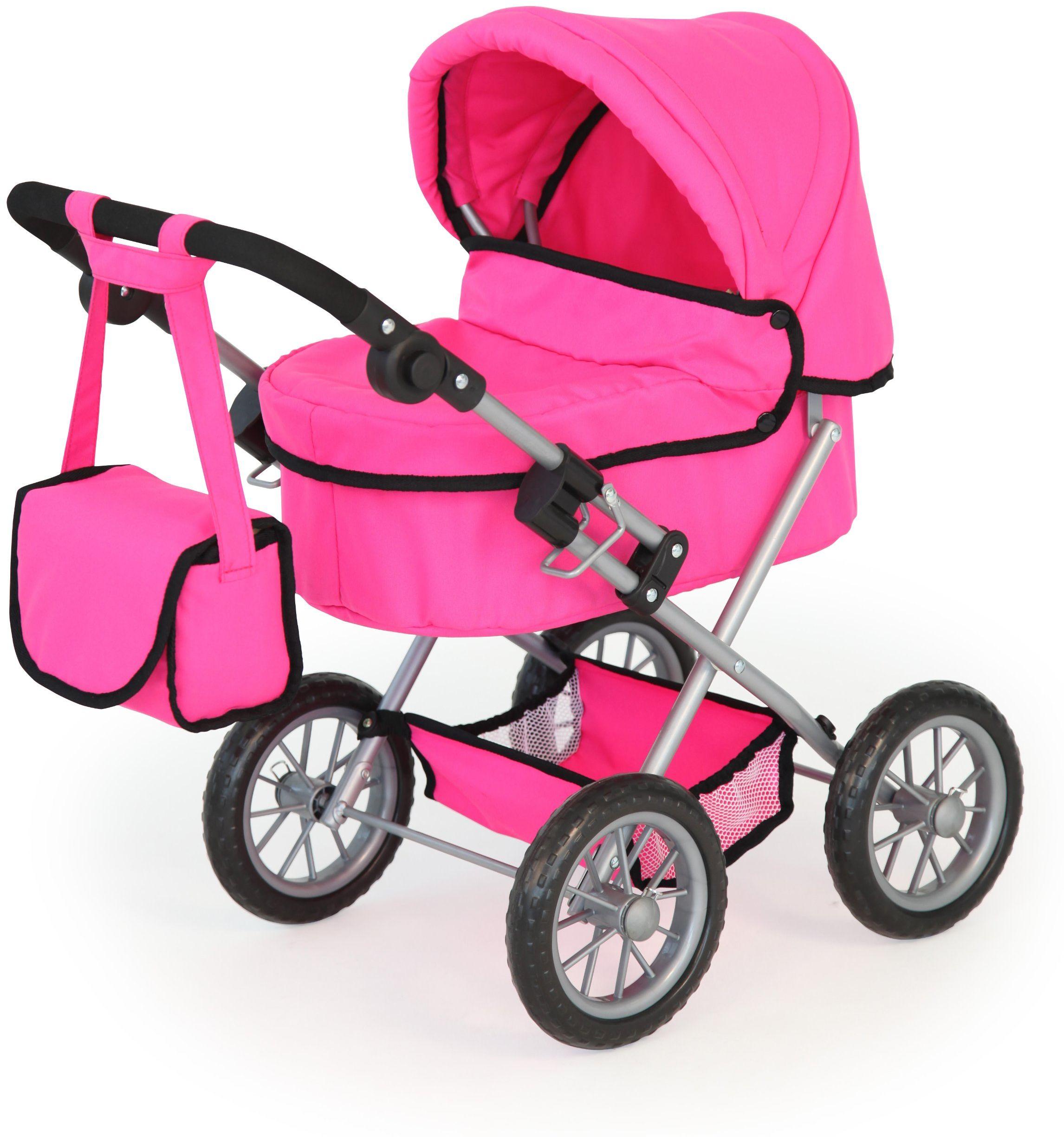 Bayer Design 13029 - wózek dla lalek Trendy, różowy