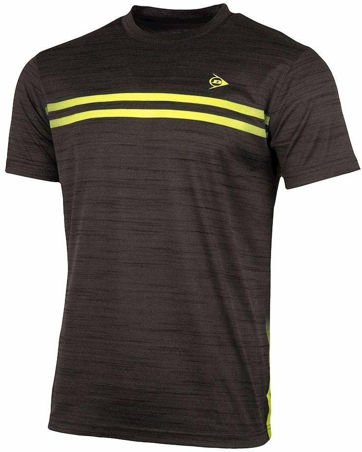 K-Swiss Performance D AC Performance MNS Crew Tee-Antra Mel T-shirt, antracyt melanż/żółty, XL