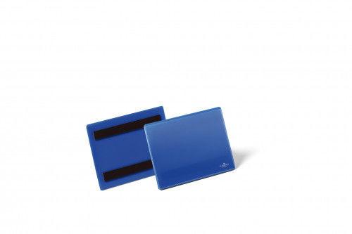 Kieszeń magazynowa magnetyczna A6 pozioma DURABLE niebieska 50szt. 1756 07