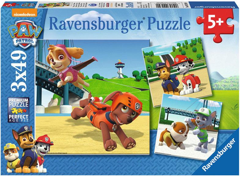 Ravensburger - Puzzle Psi Patrol Zespół ratowniczy 3 x 49 elem. 092390