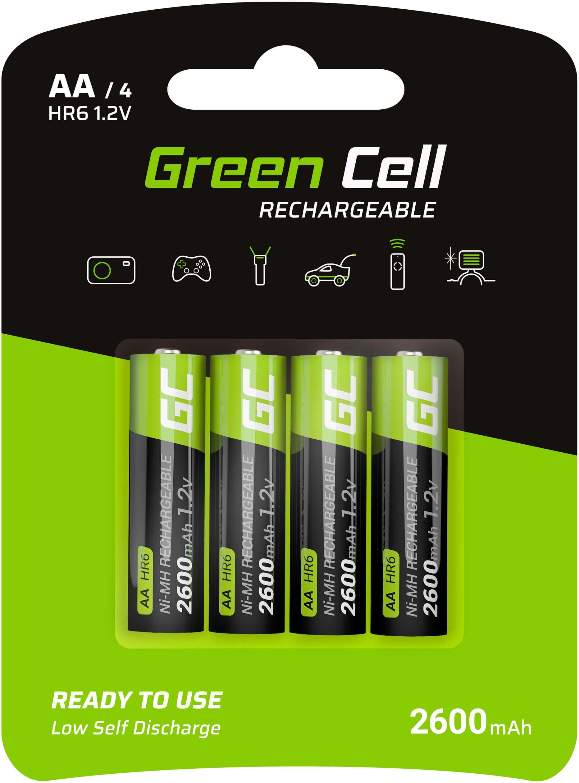 Baterie Akumulatorki Paluszki 4x AA R6 2600mAh Green Cell