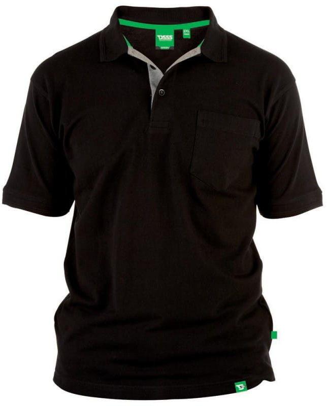 GRANT-D555 Koszulka Polo Czarna Duże Rozmiary