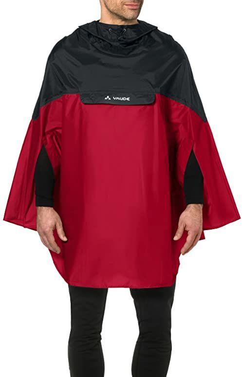 VAUDE Poncho męskie Covero Poncho II, indian red, XL, 068096140500