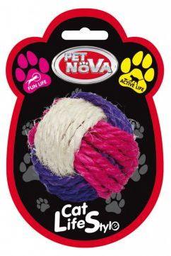 CAT LIFE STYLE Zabawka dla Kota Piłka Sizalowa 6cm
