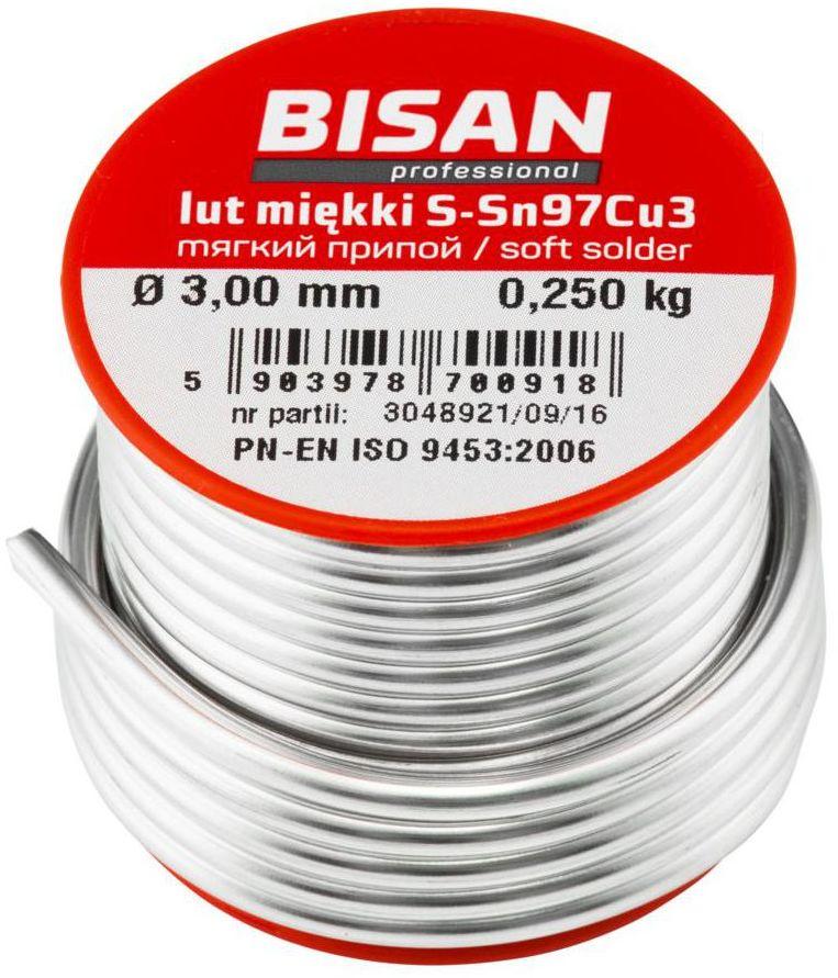 Rolka drutu lutowniczego 3.0 mm 250 g BISAN