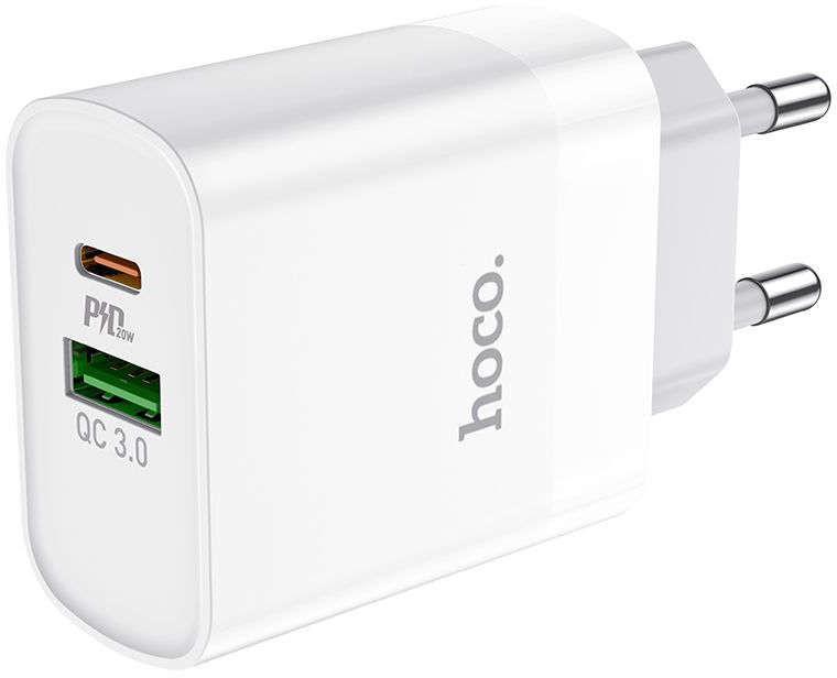 Ładowarka sieciowa HOCO C80A Network PD20W / QC3.0 White