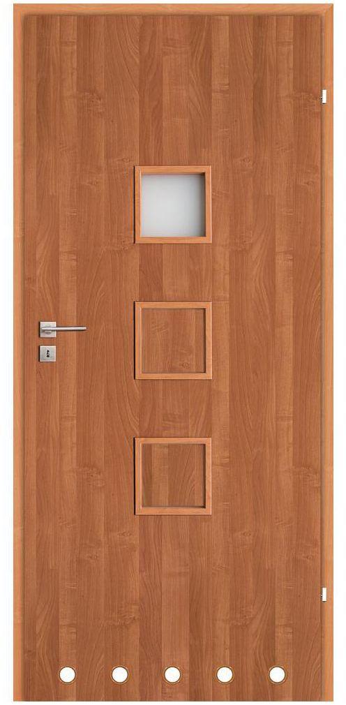 Skrzydło drzwiowe z tulejami wentylacyjnymi LEA Olcha 70 Prawe CLASSEN