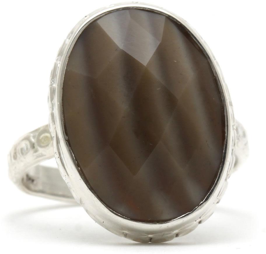 Kuźnia Srebra - Pierścionek srebrny, rozm. 15, Agat Botswański, 5g, model