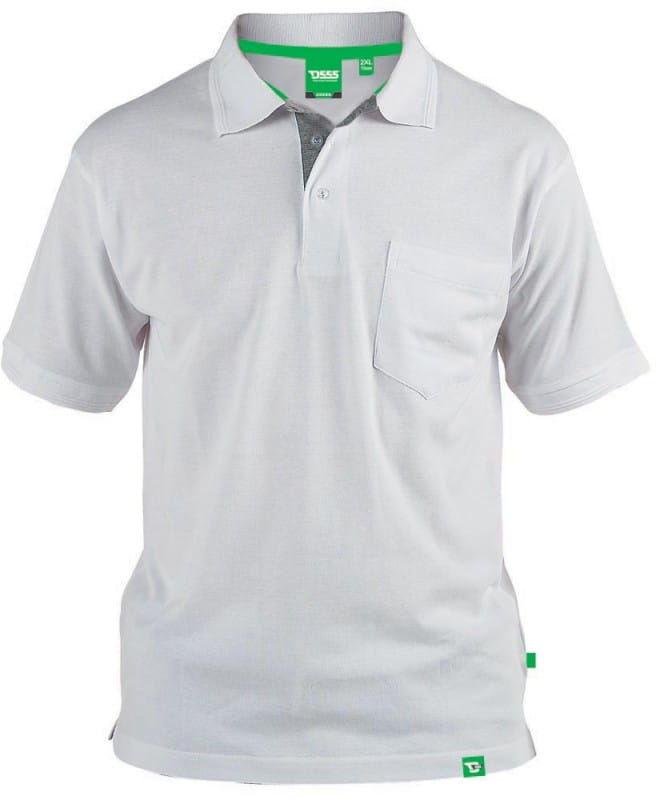 GRANT-D555 Duża Koszulka Polo Biała