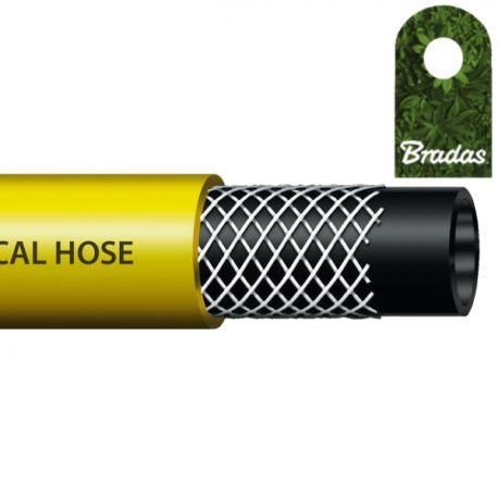 Wąż techniczny 12,5x3mm 50 bar 50m do oprysków ciśnieniowy żółty Bradas 9670
