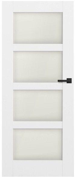Drzwi bezprzylgowe pokojowe Connemara 70 lewe kredowo-białe