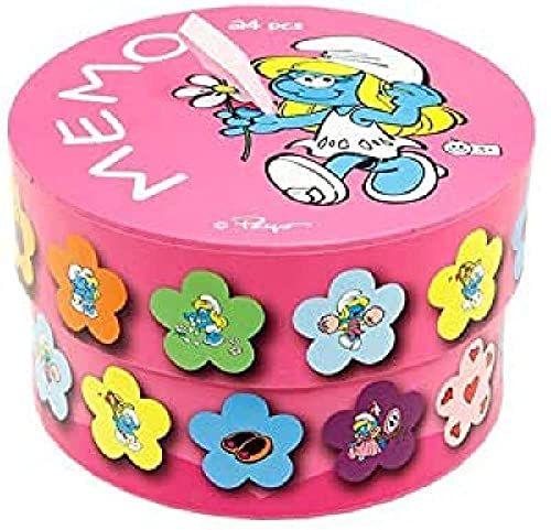 Barbo Toys Barbo Toys8354 zabawki Barba 24 sztuki okrągłe pudełko smerf mini notatka, wielokolorowe