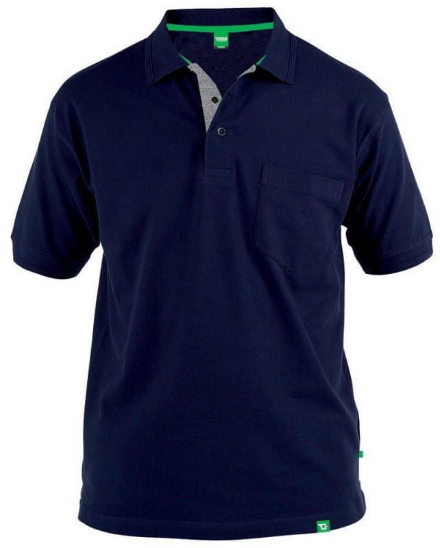 GRANT-D555 Duża Koszulka Polo Granatowa