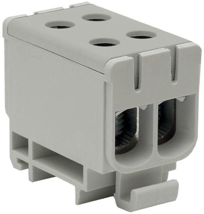 Złączka szynowa przelotowa 2-torowa 2,5-50mm2 niebieska szara WLZ35/2x50/s 48.251