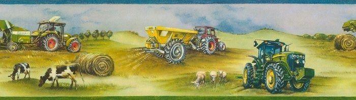 Pasek dekoracyjny maszyny rolnicze 293302 kids & teens rasch