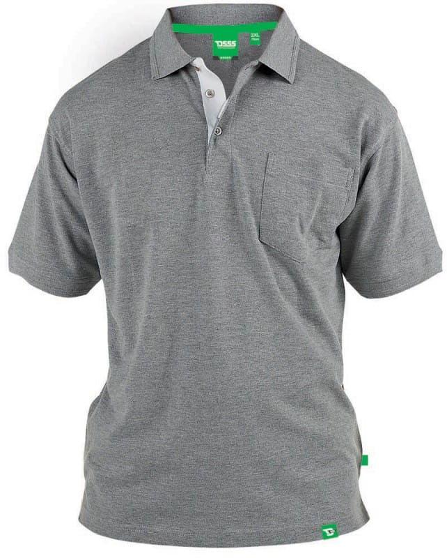 GRANT-D555 Duża Koszulka Polo Szara