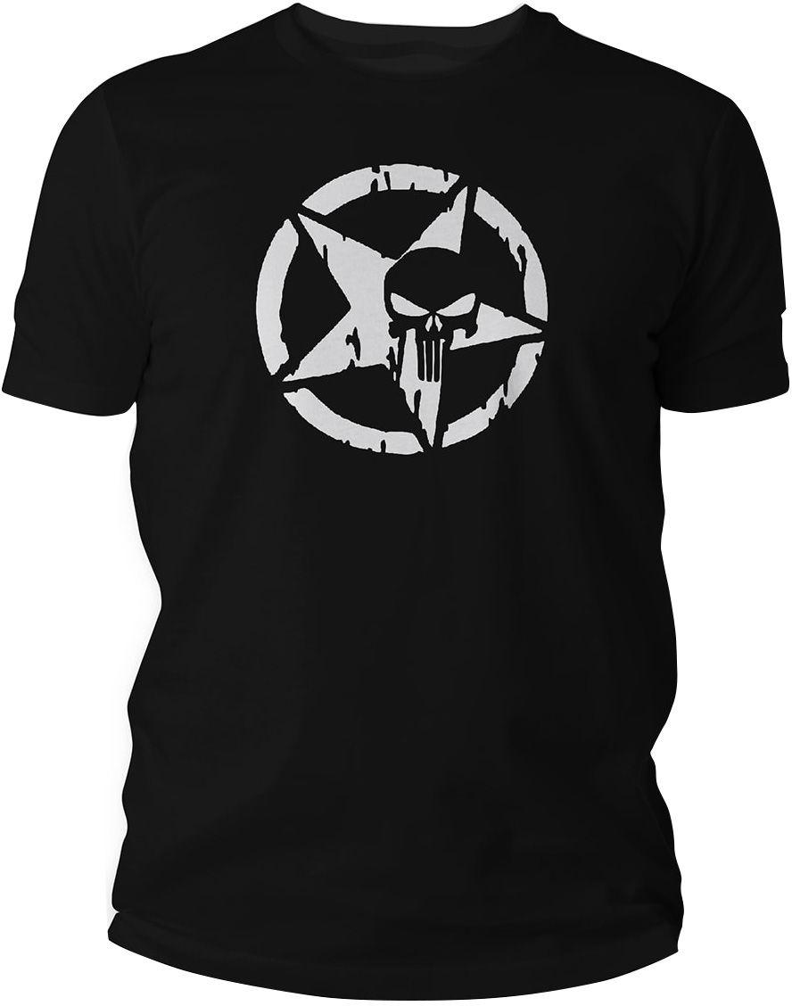 Koszulka T-Shirt TigerWood Punisher Military - czarna