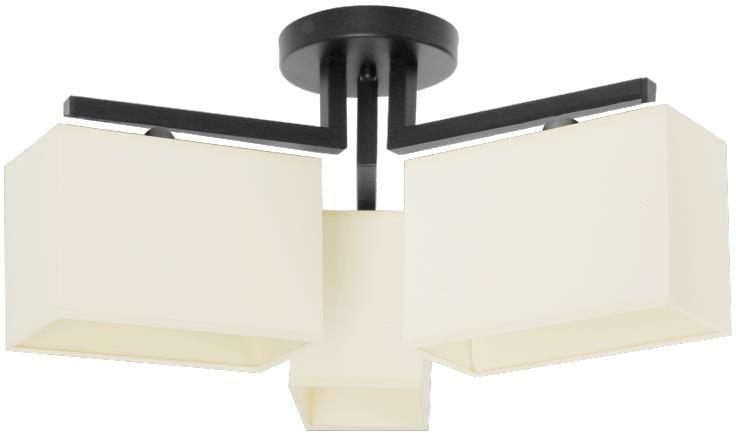 Lampex Jasmine 796/3 plafon lampa sufitowa klasyczny ecri 3x60W E14 52cm