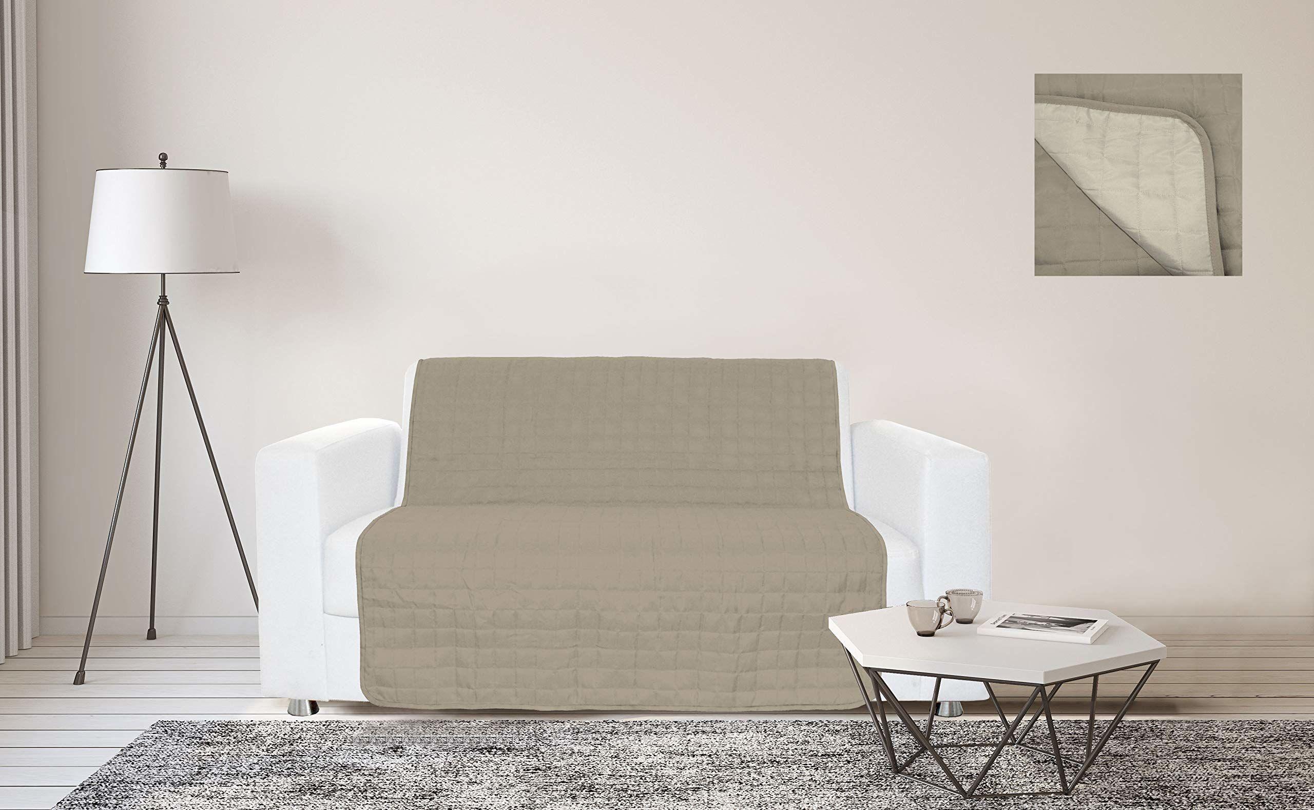 Sogni e Capricci Wodoodporna narzuta na sofę, 125 x 190 cm, gołębiowy/kremowy, 2 miejsca