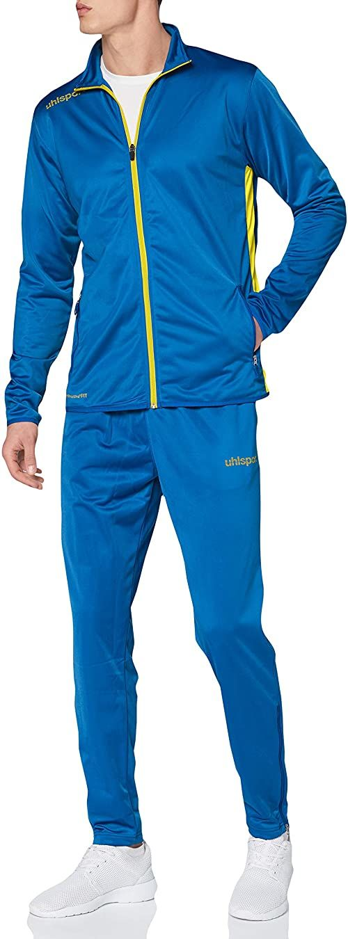 Uhlsport Essential Classic kombinezon męski, lazurowy niebieski/limonkowy żółty, L