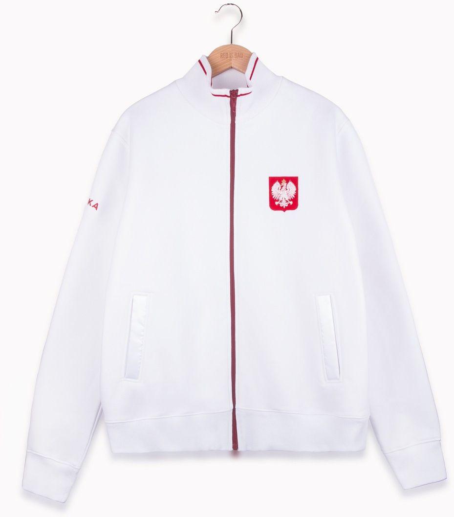 RED IS BAD bluza ze stójką Orzeł biała