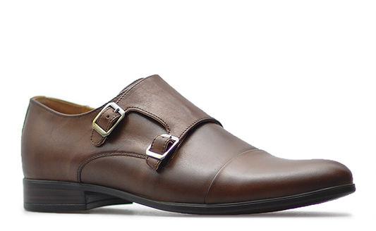 Pantofle Pan 1040 Brązowe lico