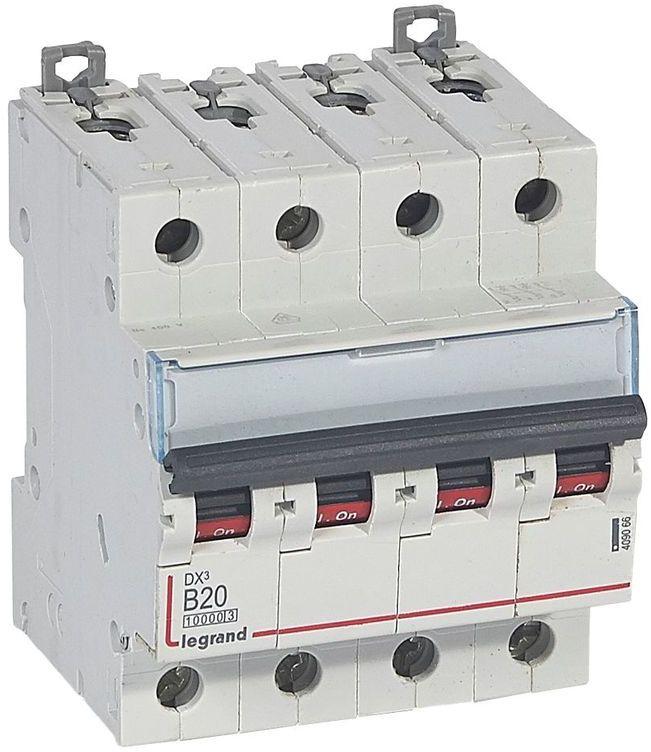Wyłącznik nadprądowy 4P B 20A 10kA S314 DX3 409066