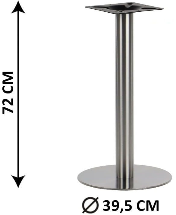 Podstawa stolika SH-3001-1/S, fi 39,5 cm, stal nierdzewna szczotkowana (stelaż stolika)