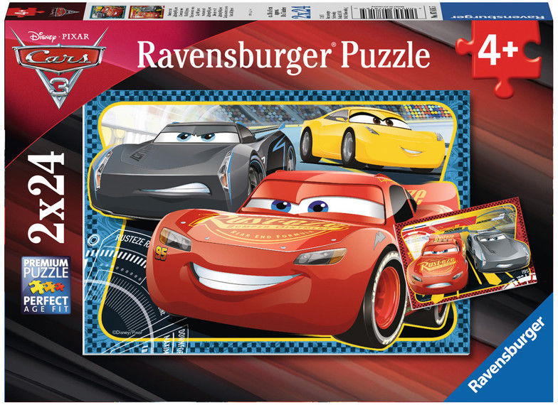 Ravensburger - Cars Auta 3 McQueen i Storm puzzle 2x24 elem. 078165