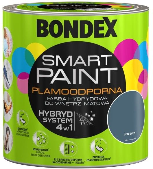 Farba hybrydowa Bondex Smart Paint sen elfa 2,5 l