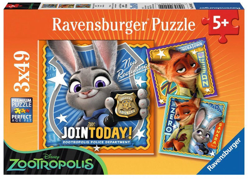 Ravensburger - Puzzle Zootopia 3 x 49 elem. 094042