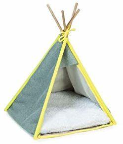Beeztees K&Bz namiot dla psa Tipi Aika, szary, 55 x 55 x 85 cm, 2000 g