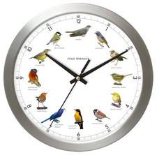 Zegar aluminiowy z głosami 12 ptaków #1