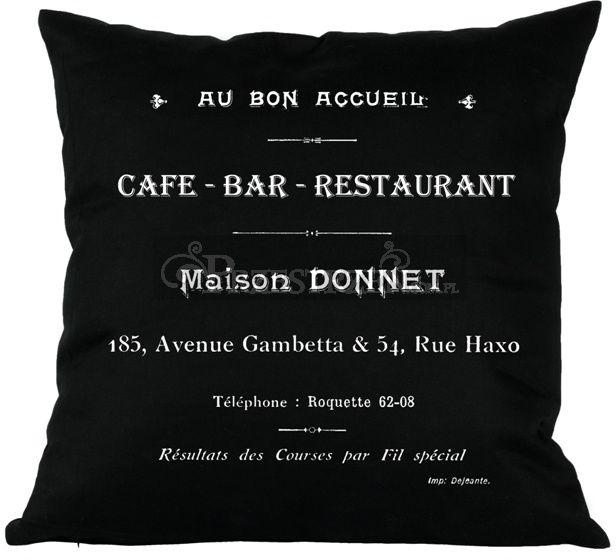 PODUSZKA OZDOBNA FRENCH HOME - CAFE BAR CZERŃ