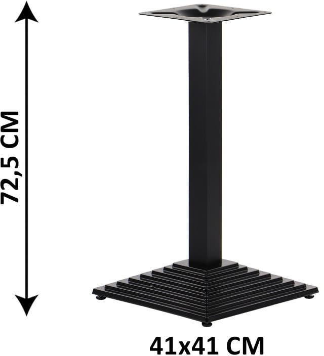 Podstawa stolika żeliwna SH-5014-1/60/B, 41x41 cm (stelaż stolika), kolor czarny
