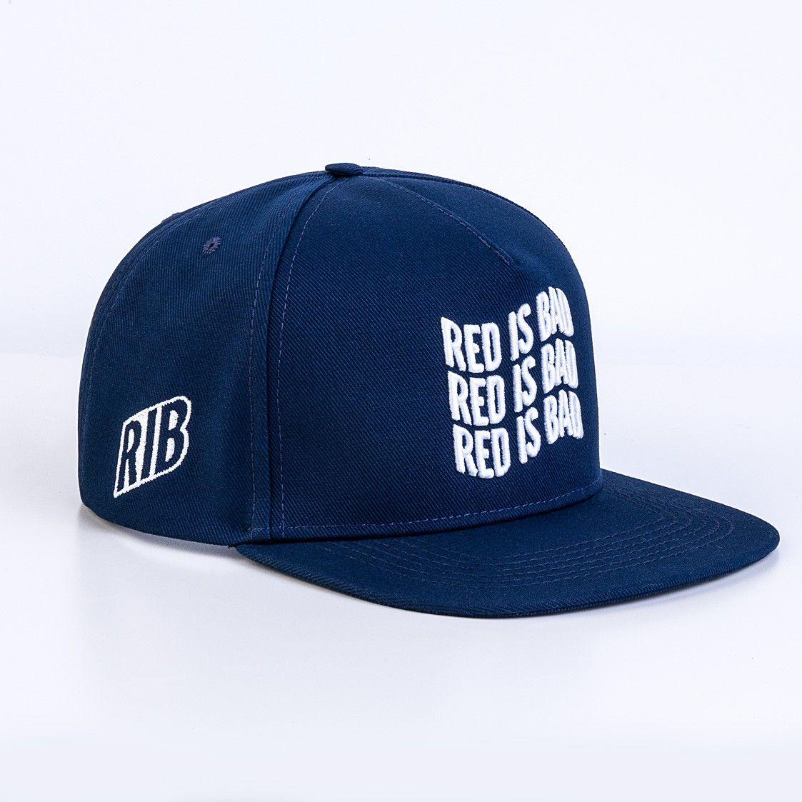 RED IS BAD czapka z daszkiem Snapback Logo Flaga