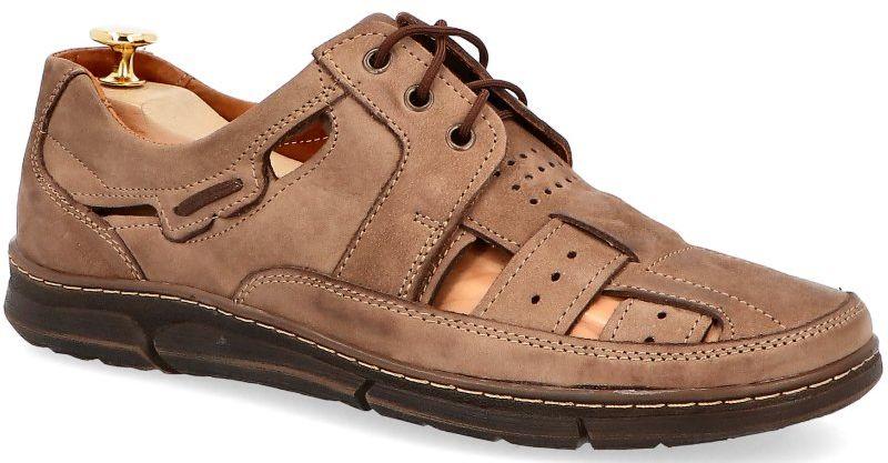 KENT 600 BRĄZOWY - Skórzane buty na lato - Brązowy